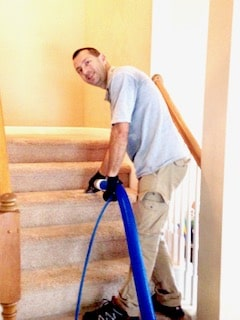 carpet cleaning service in orlando stair case